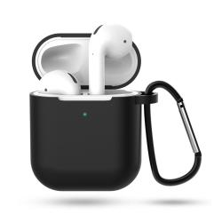 Svart Apple AirPods 1/2 Väska Fodral Stötsäkert Skyddsfodral svart