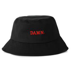 Svart Fiskehatt Bucket Hat Mössa Hatt Kendrick Damn svart one size