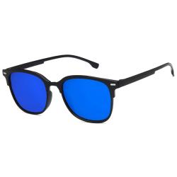 Svarta Clubmaster Solglasögon Blått Glas med Senilsnöre svart
