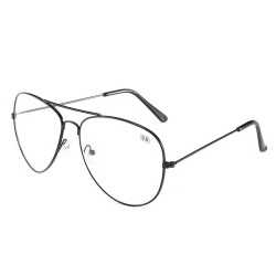Svarta Minusglasögon Aviator Pilot Styrka -3.0 Glasögon svart