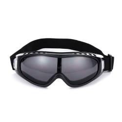 Svarta Skidglasögon Goggles MC MX Mopedglasögon UV-Skydd svart