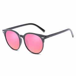 Svarta Solglasögon Rosa Glas med Senilsnöre rosa
