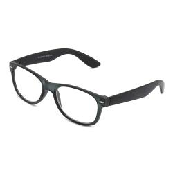 Svarta Wayfarer Läsglasögon Styrka 1.0 Glasögon svart