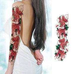 Temporär Tatuering Fake Tattoo Sleeve Faketatuering Fakesleeve flerfärgad