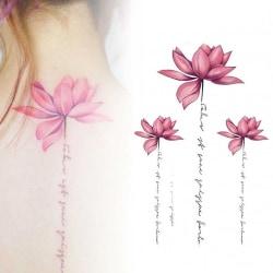 Temporära Tatueringar Blommor Faketatueringar Fejk Fake Tattoo rosa