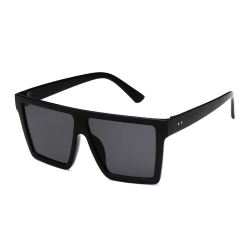 Trendiga Fyrkantiga Svarta Solglasögon + Senilsnöre svart
