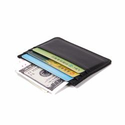 Tunn Svart Korthållare för Kreditkort Plånbok svart