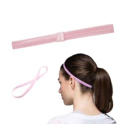 Tunt Pannband Hårband för Sport Träning - Rosa rosa