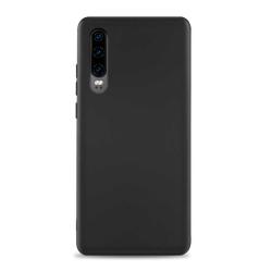 Tunt Svart Huawei P30 Skal Mobilskal 1mm TPU svart