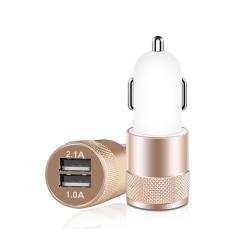 Universal Billaddare med Dubbla USB 3.1A guld
