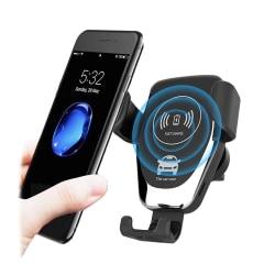 Universal Trådlös Billaddare Mobilladdare Laddare Mobilhållare svart