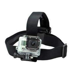 Universalt Huvudfäste Huvudband Gopro Actionkamera Kamera POV svart