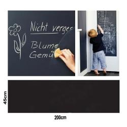Väggdekal Stor Griffeltavla Blackboard Svart Tavla 45x200cm svart