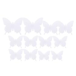 Väggdekoration 12-pack Fjärilar 3D Väggdekal Stickers Väggdekor vit