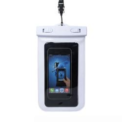 Vattentät Fodral Väska för Mobiltelefon Universal Mobilväska vit