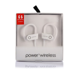 Vita Trådlösa Bluetooth Stereo In-Ear Hörlurar Träningshörlurar vit