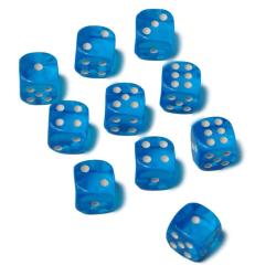 10st tärningar 16mm till spel sällskapsspel brädspel lättrul Blå