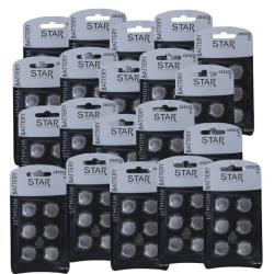 120 st Batterier CR2032, 2032, litium, knappcell
