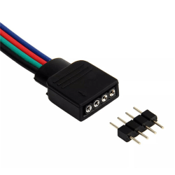 1st LED-anslutning för 4-polig LED-slinga 10mm RGB