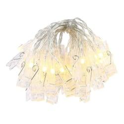 1st Ljusslinga med 20 lysande klädnypor, LED, kräftbelysning
