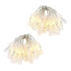 2st Ljusslingor med 20 lysande klädnypor, LED, kräftbelysning