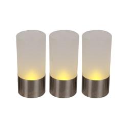 3-pack LED-ljuslykta Frost till KANONPRIS