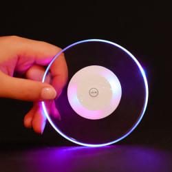 6st LED glasunderlägg coaster RGB flerfärgad disco