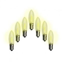 7-pack Klassisk universal LED-lampa för Adventstakar E10 10-55V
