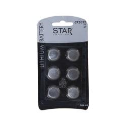Batteri CR2032, 2032, 6-pack, knappcell, litium
