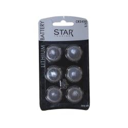Batteri CR2450, DL2450, 2450, 6-pack, lithium, knappcell