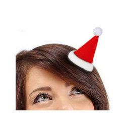 Gulligt Jul-hårspänne med tomteluva med glitter i tofsen