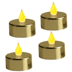 LED Värmeljus 4-pack Mette Guld