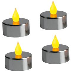 LED Värmeljus 4-pack Mette Silver