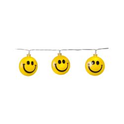 Smiley-Ljusslinga HAPPY för barnkalas och barnrummet med timer