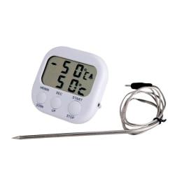 STORSÄLJARE 300 graders Grill- Ugns- Köks-termometer med Timer