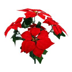 Vacker Konstgjord 5-grenad röd Julstjärna 47cm juldekoration