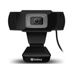 Webbkamera Sandberg Saver för online-studie-möten mm USB svart