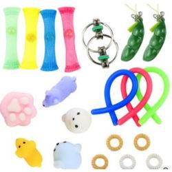 20st Fidget Toys pack festfavörer,sensoriskt pop it stressboll