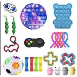 22st fidget toys pack festfavörer sensoriskt pop it stressboll