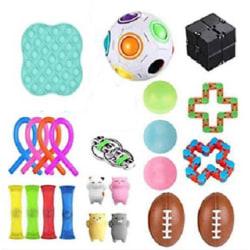 23st Fidget Toys pack festfavörer,sensoriskt pop it stressboll