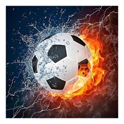 Fotboll DIY Full Drill Round 5D Diamant Painting Brodery Cross S Som på bilden 1 20X20CM