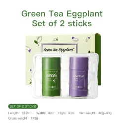 Green Tea Eggplant Stick Mask Pack Cleans Pores Anti-Acne