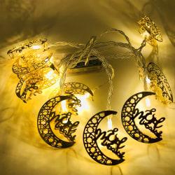 Ramadan eid mubarak dekoration led list ljus Längd 1,65m