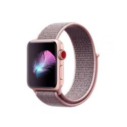 Armband • Apple Watch 1/2/3/4/5/6/SE (38/40MM) • Nylon • Pink...