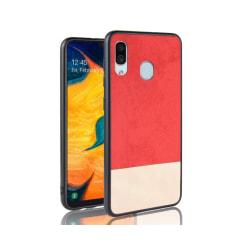Galaxy A40 Mobilskal - Denim - Röd