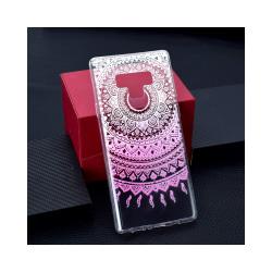 Galaxy Note 9 Mobilskal - Mandala Flower - Rosa