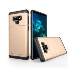 Galaxy Note 9 X Armor stötsäkert mobilskal med kortfack - Guld