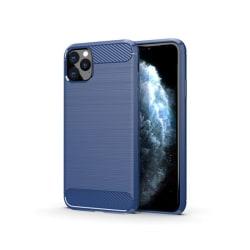 iPhone 11 Pro Mobilskal - Kolfiber design - Blå