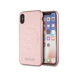 iPhone X / Xs • Mobilskal • Saffiano Circle Logo • GUESS • Ro...