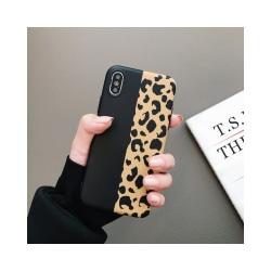 iPhone Xs Max Mobilskal - Leopard - Svart/gul